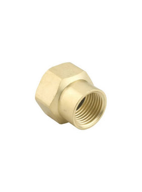 "Brass, Double Female 1/2"" NPT x 3/4"" GHT Connector"
