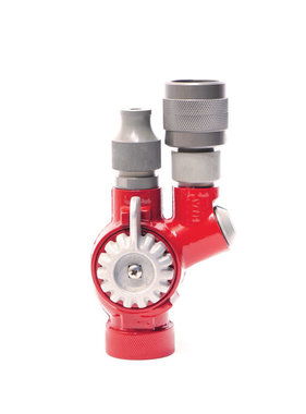 "S&H 1"" NPSH Red, Powder-Coated Forestry Twin Tip Nozzle"