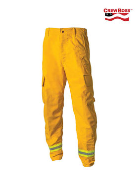 CrewBoss 6.0oz Nomex® IIIA Yellow Wildland Interface Brush Pant