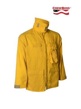 CrewBoss 7.0oz Tecasafe® PLUS Yellow Wildland Brush Coat