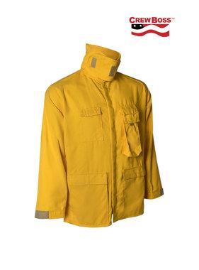 CrewBoss 7.0oz Tecasafe® PLUS Yellow Wildland Brush Coat