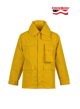 CrewBoss 7.5oz Nomex® IIA Yellow Brush Coat