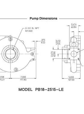 Waterous PB18-2515-LE Pump End (less engine)