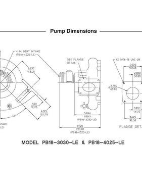 Waterous PB18-3030-LE Pump End (less engine)