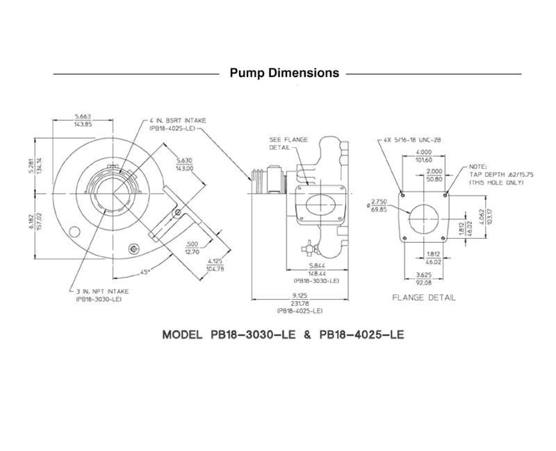 Waterous Waterous PB18-3030-LE Pump Less Engine