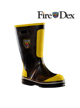 "Fire-Dex 14"" Rubber Firefighting Boot"
