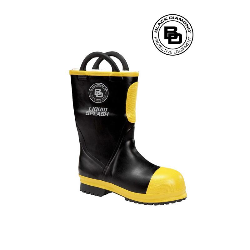 Black Diamond Rubber Firefighting Boot