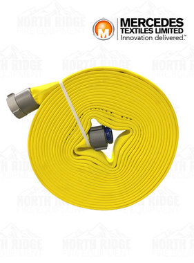 "Mercedes Textiles 1 3/4"" (Coupled 1 1/2"" NH) x 50ft MD-800 Yellow Treated Fire Hose"