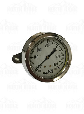 30 to 600 PSI Compound Pressure Gauge