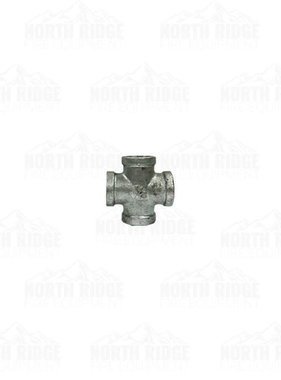 "Legend Valve & Fitting 1/2"" Galvanized Cross"