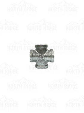 "Legend Valve & Fitting 3/4"" Galvanized Cross"