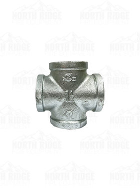 "Legend Valve & Fitting 1 1/2"" Galvanized Cross"