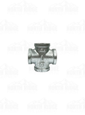 "Legend Valve & Fitting 1"" Galvanized Cross"