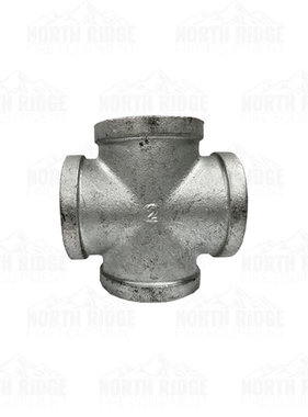 "Legend Valve & Fitting 2"" Galvanized Cross"