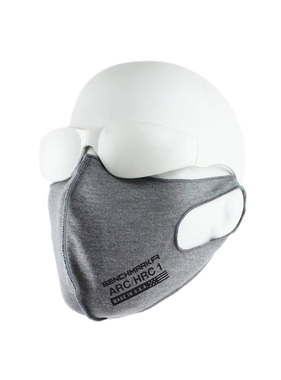 Benchmark FR CAT-1 Face Mask Arc & Flame Resistant 5.2oz Cotton Jersey 3-pack Grey