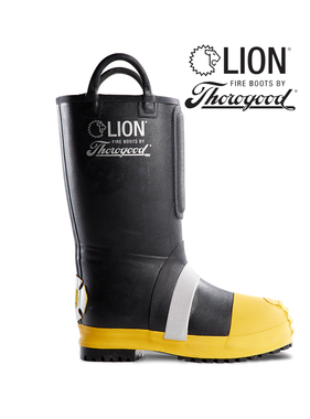 """Thorogood Men's Hellfire Kevlar Lined 14"""" Pull-On Rubber Structural Boot"""