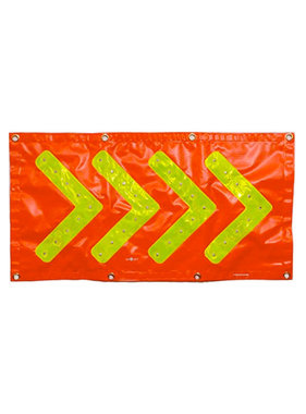 FOXFIRE Directional Arrow Banner – Orange