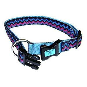 Hamilton Adjustable 5/8in Collar, Weave Ocean