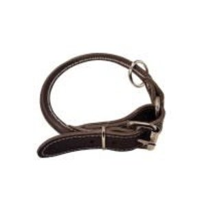 Large 24in Leather Dog Collar (Brown)