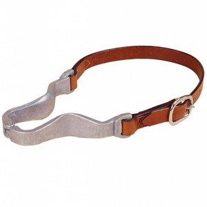 Leather and Metal Cribbing Collar