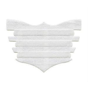 White Single Flair Strip