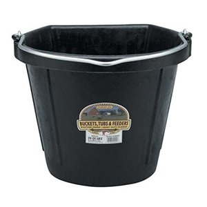 20 Quart Rubber Flatback Bucket