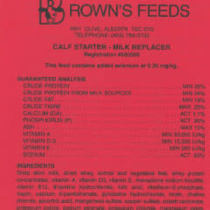 Brown's Milk Replacer Calf Milk Replacer, Starter (Red tag)
