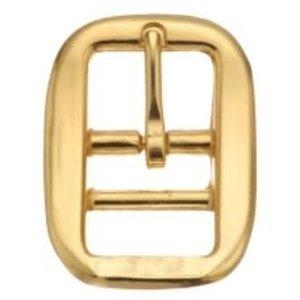 Brass Plated Double Bar Halter Buckle