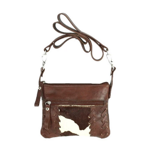 American West Pendleton Pony leather trail rider/hip bag