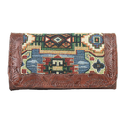 American West Bella Beau leather tri-fold wallet