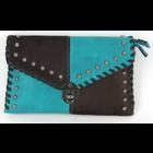 Savana Crossbody clutch with hair-on patchwork design