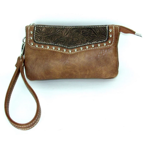 Savana Event Approved wristlet with embossed trim