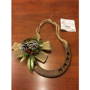 Rustic Christmas Horseshoe