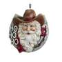 Western Santa in Horseshoe Ornament