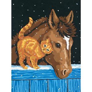 """Paint-by-Number """"Pony and Kitten"""""""