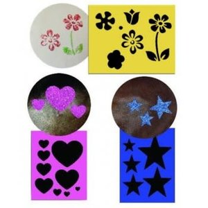Twinkle Stencil Kit, With 3 Designs & Applicator