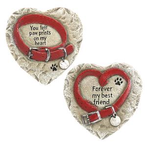 Pet Memorial Heart Shaped Stones