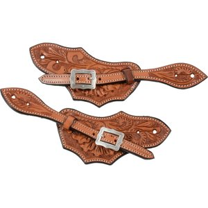 Mens Country Legend Floral Spur Strap, Chesnut