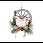 Hen with Chuckwagan Ornament