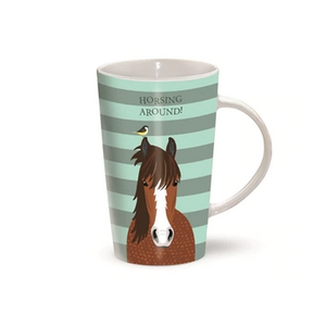 Latte Mug - Horsing Around