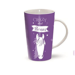 Latte Mug - Crazy about Horses