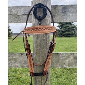Billy Cook Cowboy Headstall with V Border