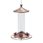Elegant Glass 12oz Copper Hummingbird Feeder