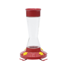Pinch Waist Glass Hummingbird Feeder