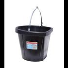 Tuff Stuff  Rubber Flat Back Bucket 12 qts