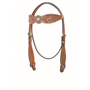 Floral and Basket Browband Headstall