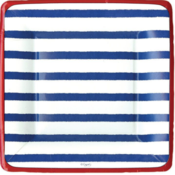 Caspari Salad Plate - Bretagne Blue
