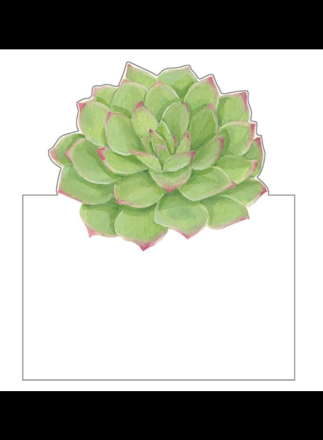 Place Cards - Die-Cut - Succulents