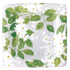 Caspari Salad Plate - Blanc De Blancs Grey