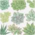 Caspari Cocktail Napkin - Succulents